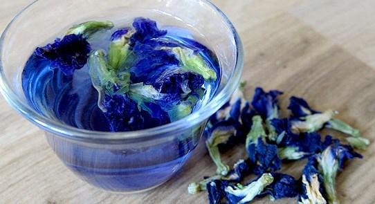 Чай голубые цветы